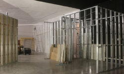 Wall frames going up.