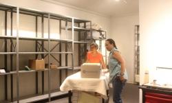 Preparing storage area for artifacts.