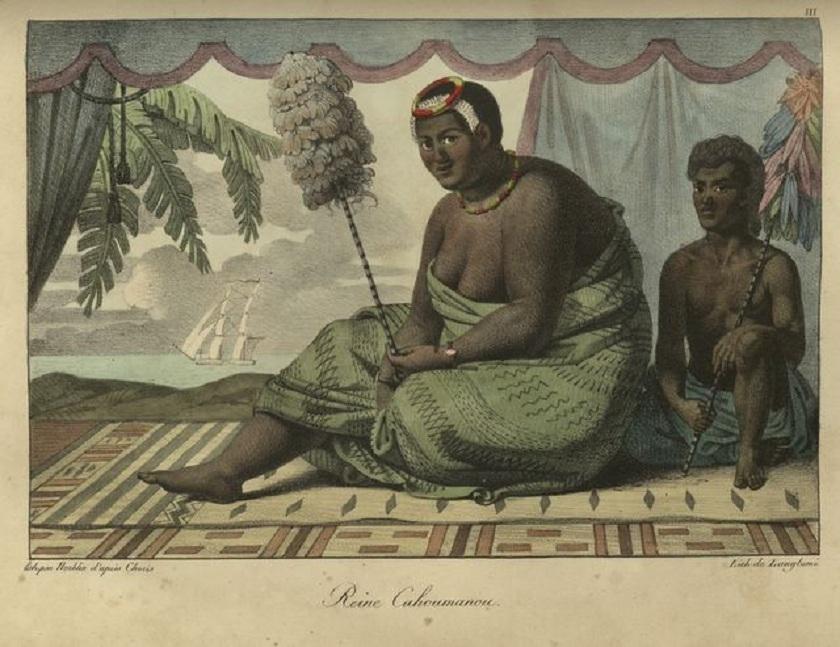Kaahumanu_with_servant